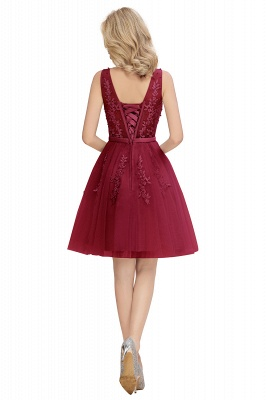 V-neck Lace Homecoming Dresses with Appliques | Cheap Short Party Dresses UK Online_20