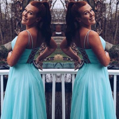 Sexy Spaghetti Straps Sleeveless Bridesmaid Dress | Chiffon Cheap Wedding Party Dress_2