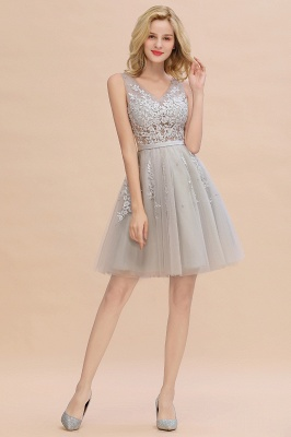 V-neck Lace Homecoming Dresses with Appliques | Cheap Short Party Dresses UK Online_18