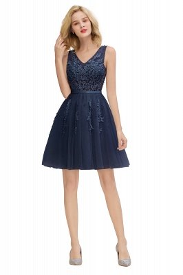 V-neck Lace Homecoming Dresses with Appliques | Cheap Short Party Dresses UK Online_25