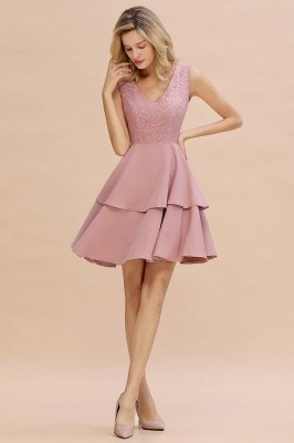 Cheap Homecoming Dresses with Ruffles Skirt | Sexy Short Evening Dresses UK_15