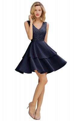 Cheap Homecoming Dresses with Ruffles Skirt | Sexy Short Evening Dresses UK_3