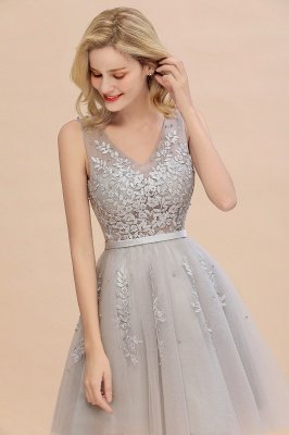 V-neck Lace Homecoming Dresses with Appliques | Cheap Short Party Dresses UK Online_14