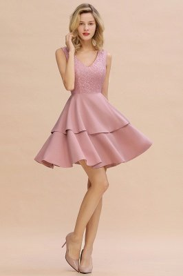Cheap Homecoming Dresses with Ruffles Skirt | Sexy Short Evening Dresses UK_13