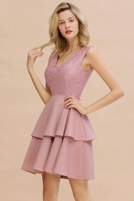 Cheap Homecoming Dresses with Ruffles Skirt | Sexy Short Evening Dresses UK_16
