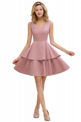 Cheap Homecoming Dresses with Ruffles Skirt | Sexy Short Evening Dresses UK_7
