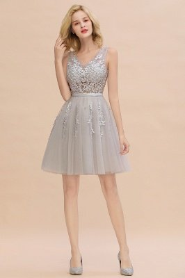 V-neck Lace Homecoming Dresses with Appliques | Cheap Short Party Dresses UK Online_23