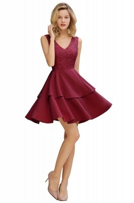 Cheap Homecoming Dresses with Ruffles Skirt | Sexy Short Evening Dresses UK_11