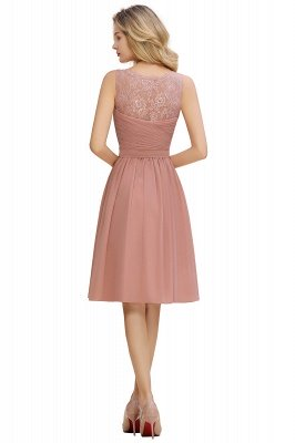 Lace Short Homecoming Dresses with Belt    Sleeveless  Pink Cheap Party Dress UK_20