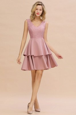 Cheap Homecoming Dresses with Ruffles Skirt | Sexy Short Evening Dresses UK_14