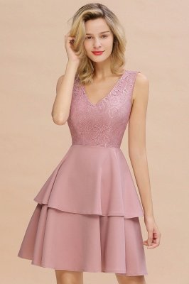 Cheap Homecoming Dresses with Ruffles Skirt | Sexy Short Evening Dresses UK_18