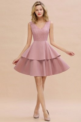 Cheap Homecoming Dresses with Ruffles Skirt | Sexy Short Evening Dresses UK_1