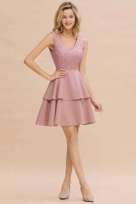 Cheap Homecoming Dresses with Ruffles Skirt | Sexy Short Evening Dresses UK_17