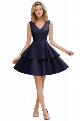 Cheap Homecoming Dresses with Ruffles Skirt | Sexy Short Evening Dresses UK_20