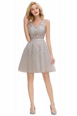 V-neck Lace Homecoming Dresses with Appliques | Cheap Short Party Dresses UK Online_24