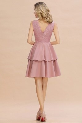 Cheap Homecoming Dresses with Ruffles Skirt | Sexy Short Evening Dresses UK_19