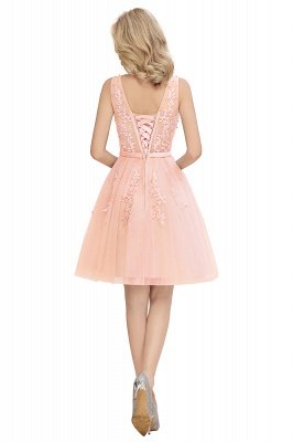 V-neck Lace Homecoming Dresses with Appliques | Cheap Short Party Dresses UK Online_21