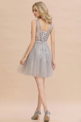 V-neck Lace Homecoming Dresses with Appliques | Cheap Short Party Dresses UK Online_22
