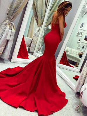 Red Sweetheart Open Back Sexy Evening Dresses UK | Mermaid Cheap Prom Dress Cheap Online_2