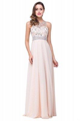 Chiffon Sleeveless Light-Champagne Long Crystals Prom Dress UKes UK BA6131_2