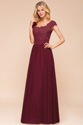 Sleeveless Lace Appliques Chiffon A-line Prom Gowns_8