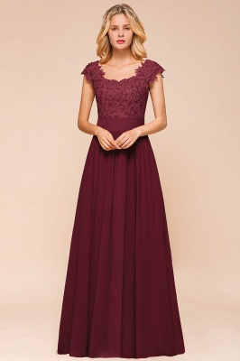 Sleeveless Lace Appliques Chiffon A-line Prom Gowns_14