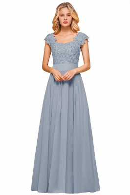 Sleeveless Lace Appliques Chiffon A-line Prom Gowns_6