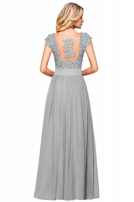 Sleeveless Lace Appliques Chiffon A-line Prom Gowns_22