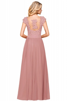 Sleeveless Lace Appliques Chiffon A-line Prom Gowns_19