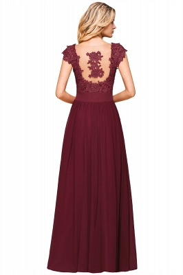 Sleeveless Lace Appliques Chiffon A-line Prom Gowns_16