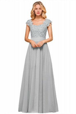 Sleeveless Lace Appliques Chiffon A-line Prom Gowns_5