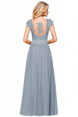 Sleeveless Lace Appliques Chiffon A-line Prom Gowns_21
