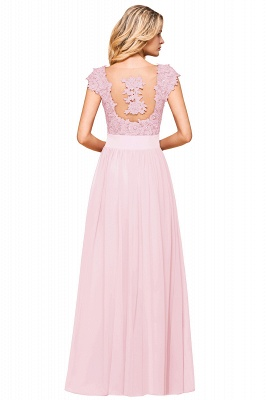 Sleeveless Lace Appliques Chiffon A-line Prom Gowns_25