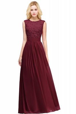 Pink Long Sleeveless Sheer-Back Prom Dress UK Sexy Lace Chiffon Bridesmaid Dress UK_5