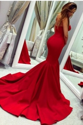 Sweetheart Strapless Floor Length Mermaid Prom Gowns_2