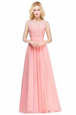 Pink Long Sleeveless Sheer-Back Prom Dress UK Sexy Lace Chiffon Bridesmaid Dress UK_6