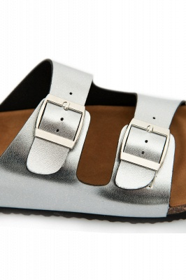Unisex EVA Sandals Adjustable Double Buckle Flat Sandals for Women Men  Non-Slip_11