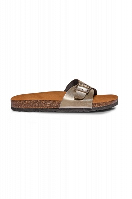Women's  EVA Narrow Fit Buckle Sandal Silver_1