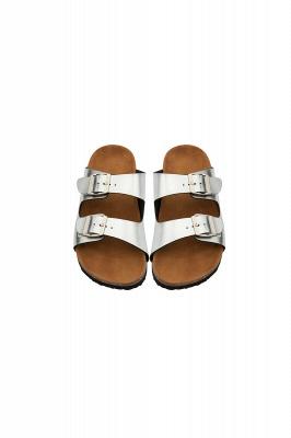 Unisex EVA Sandals Adjustable Double Buckle Flat Sandals for Women Men  Non-Slip_3