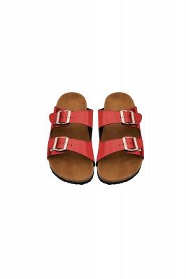 Unisex EVA Sandals Adjustable Double Buckle Flat Sandals for Women Men  Non-Slip_4