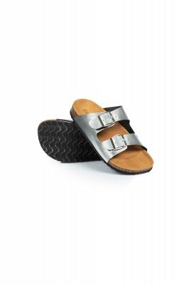 Unisex EVA Sandals Adjustable Double Buckle Flat Sandals for Women Men  Non-Slip_5