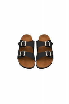 Unisex EVA Sandals Adjustable Double Buckle Flat Sandals for Women Men  Non-Slip_2