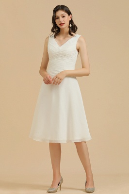 Elegant V-Neck Short Daily Casual Dress Sleeveless Chiffon Party Dress_1