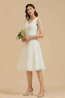 Elegant V-Neck Short Daily Casual Dress Sleeveless Chiffon Party Dress_8