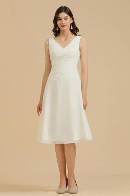 Elegant V-Neck Short Daily Casual Dress Sleeveless Chiffon Party Dress