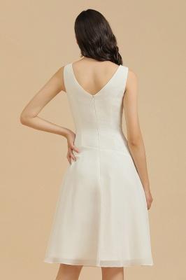 Elegant V-Neck Short Daily Casual Dress Sleeveless Chiffon Party Dress_9