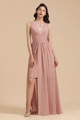 Halter Ruffle Chiffon Aline Bridesmaid Dress Wedding Party Dress_6