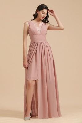 Halter Ruffle Chiffon Aline Bridesmaid Dress Wedding Party Dress_5