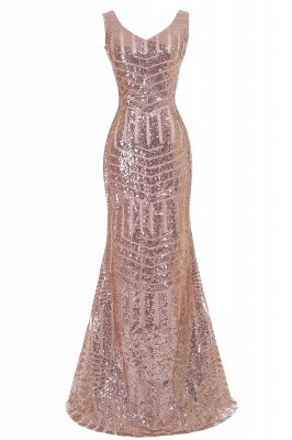 Sleeveless Newest Long Jewel Sequin Mermaid Prom Dress UK_3