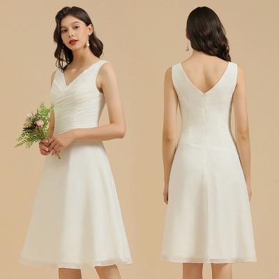 Elegant V-Neck Short Daily Casual Dress Sleeveless Chiffon Party Dress_10